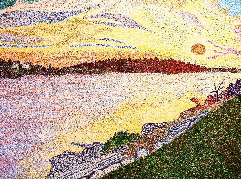 st_lawrence_sunset_pointilism_ul