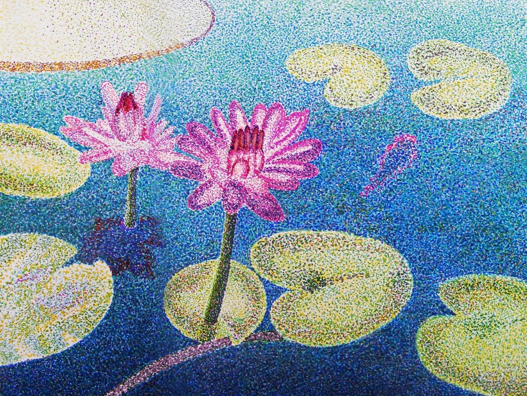 water_lillies_pointillism_ul