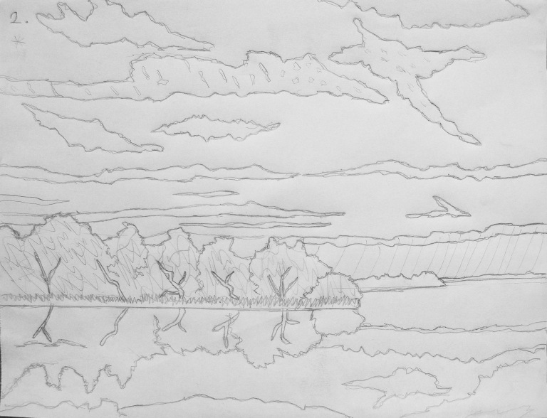 woodlands_sunset_drawing