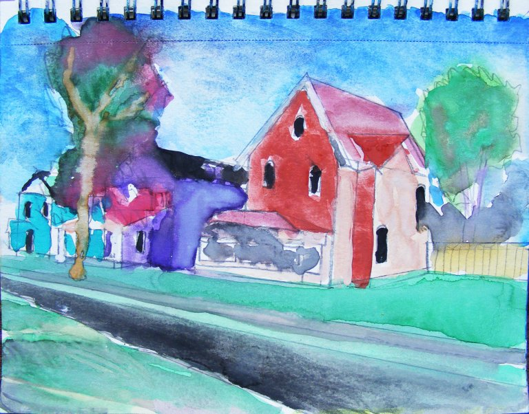 Sydney street watercolour