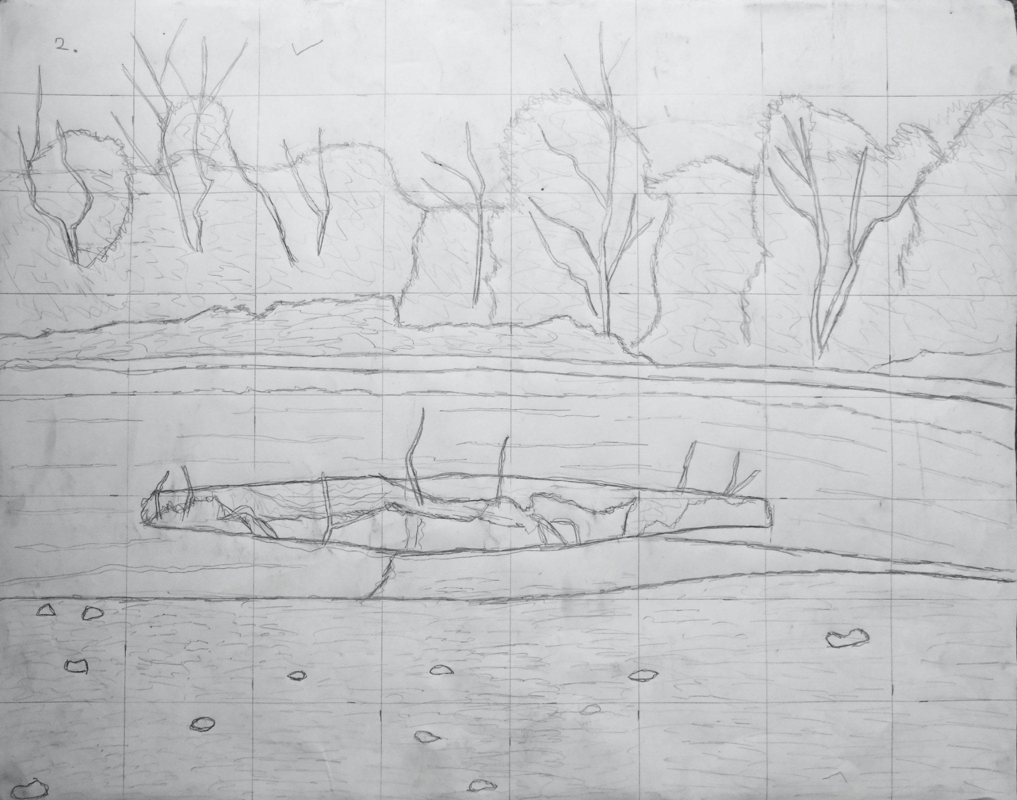 Ault_Beach_Pointillism_Drawing