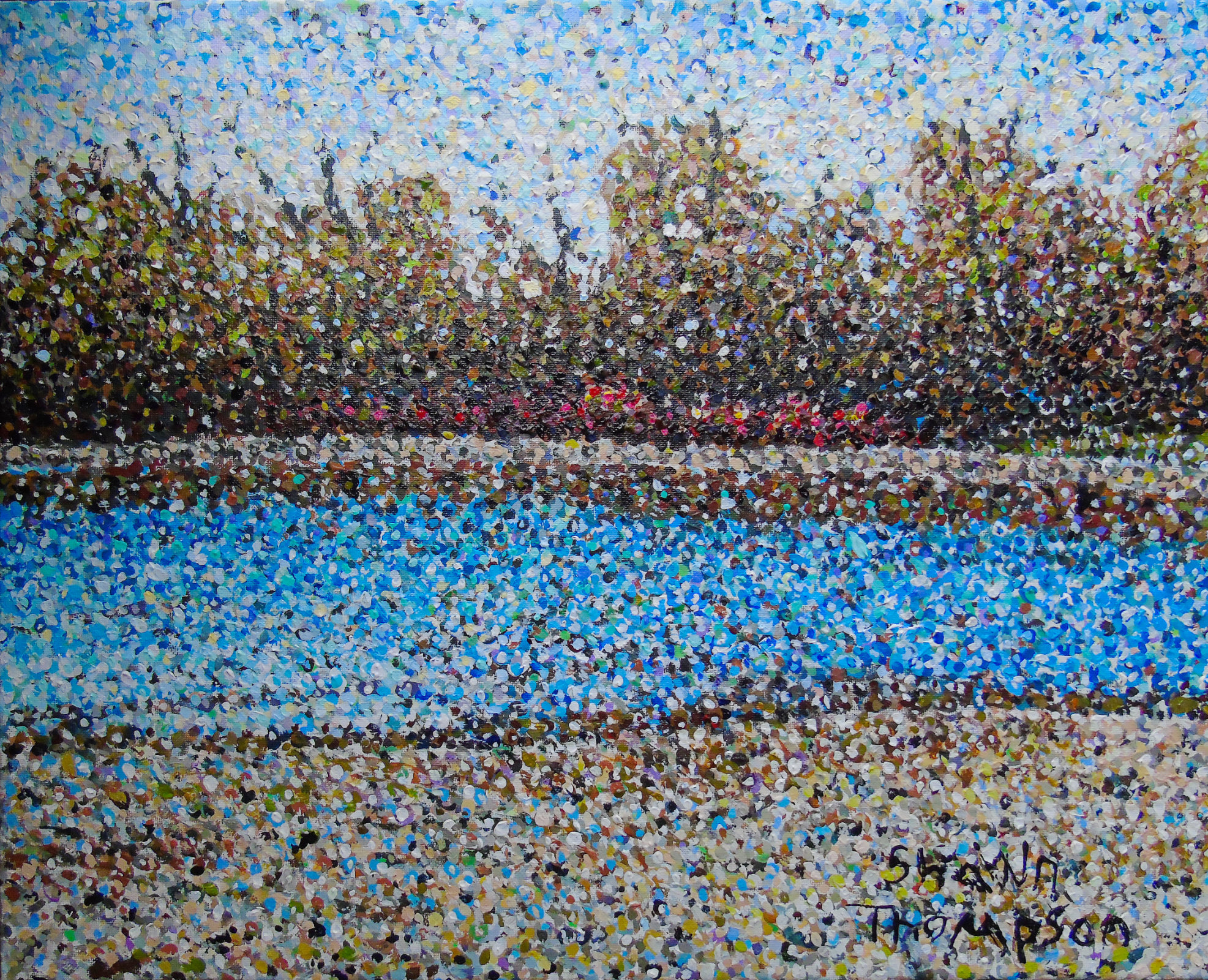 Ault beach pointillism final