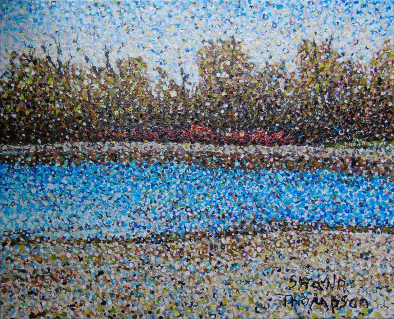Ault beach pointillism final