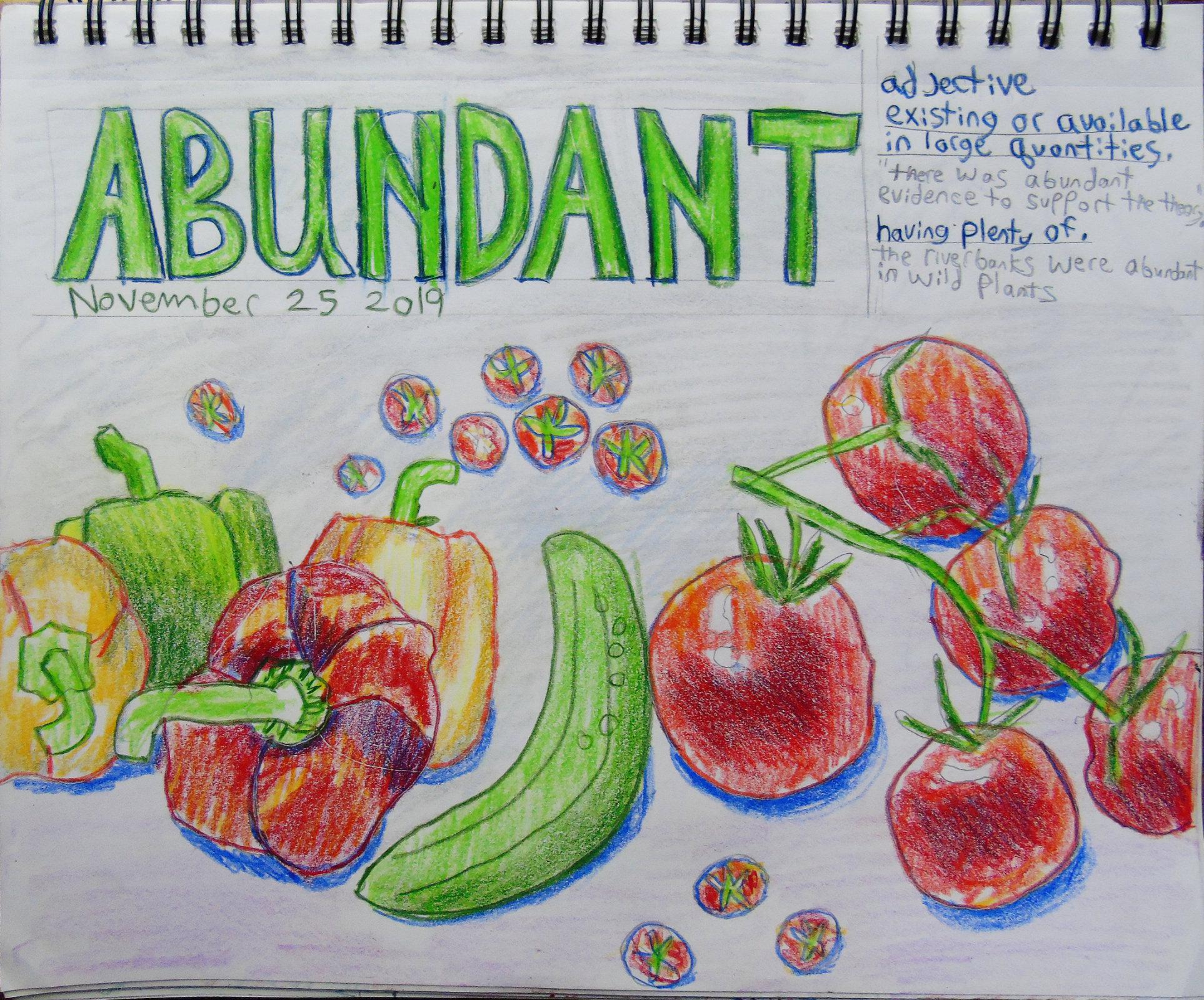 Drawing a day abundant